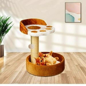 Cat Tower with Natural Sisal Scratching Post